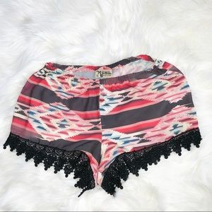 Show Me Your MuMu Lacey Lace Shorts Size Small